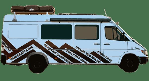 Long wheelbase campervan rentals - VanCraft