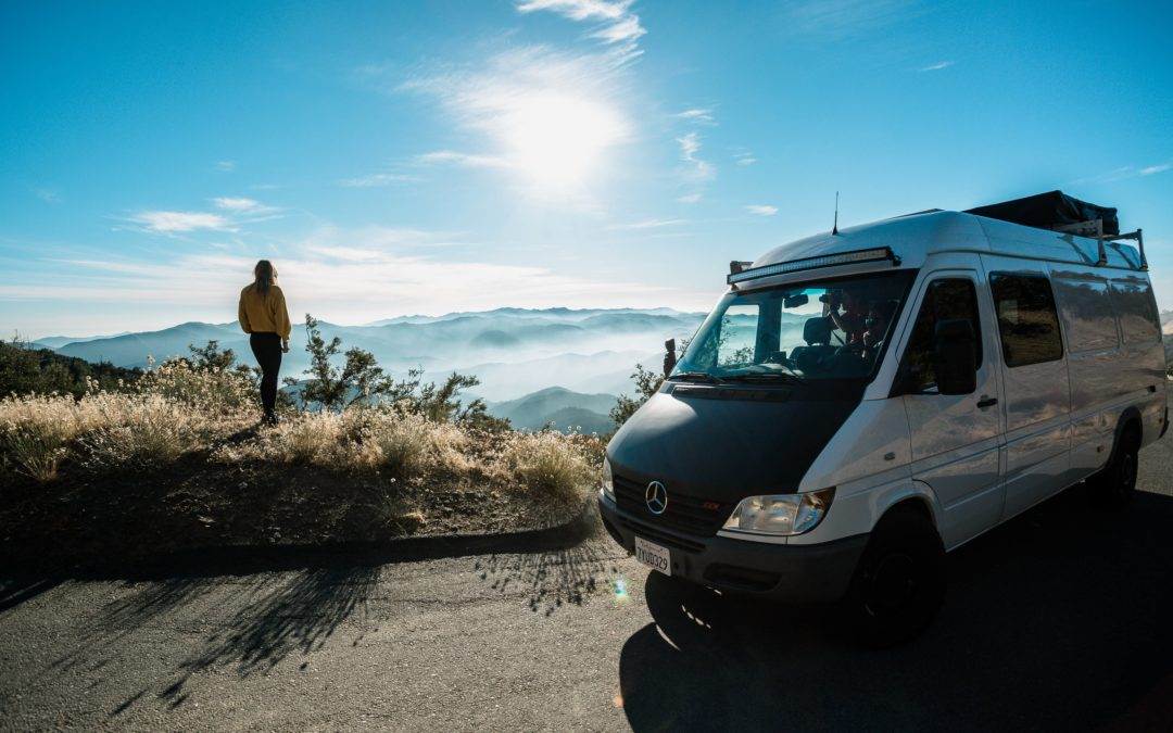 A view of the central California coast from my campervan