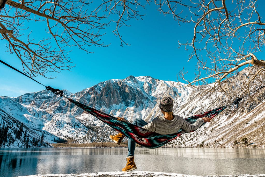 with a little sunshine, deep winter season in the eastern Sierra is pretty warm!