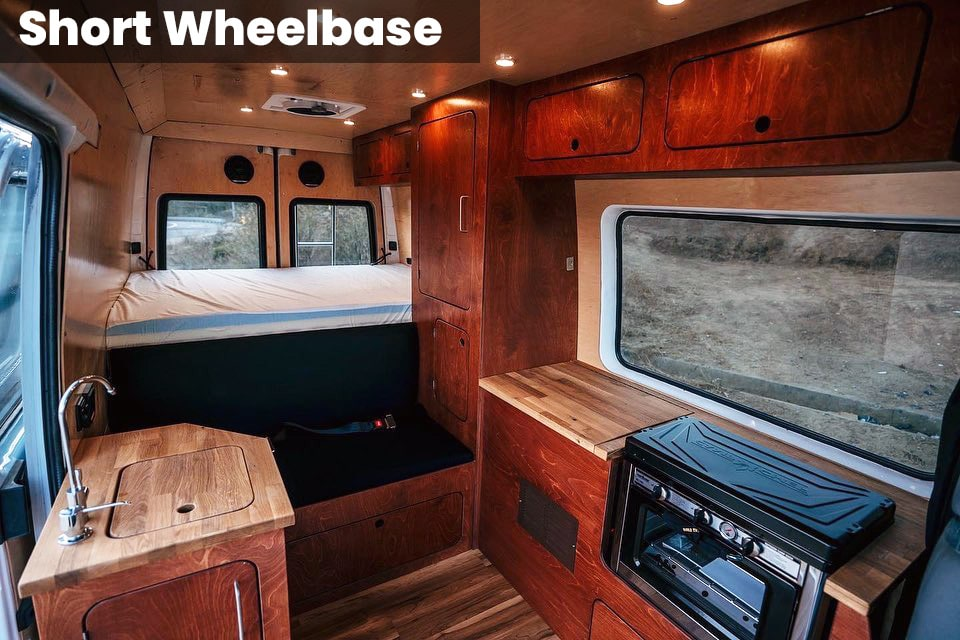 Short wheelbase with natural red stain