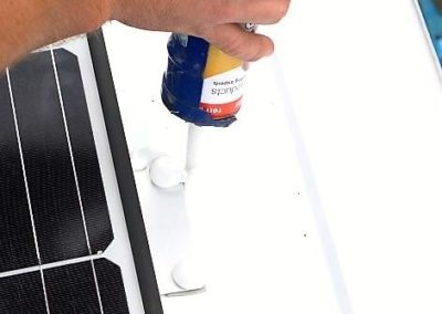 lap sealant on renogy solar panel install